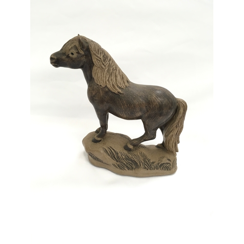 104 - Poole Pottery Barbara Linley Adams stoneware Pony 736 first made in 1981....