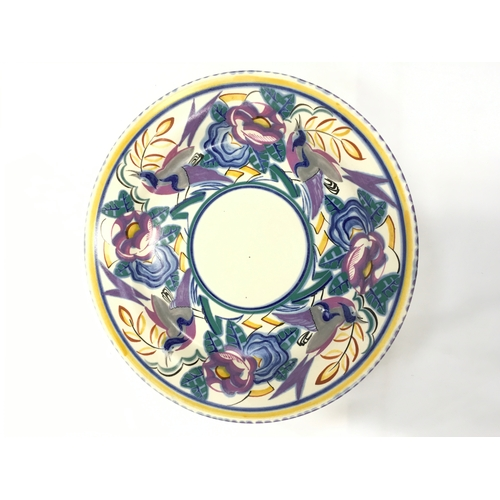 12 - Poole Pottery large shape 662 JS pattern dish made exclusively for J Beales department store Bournem...