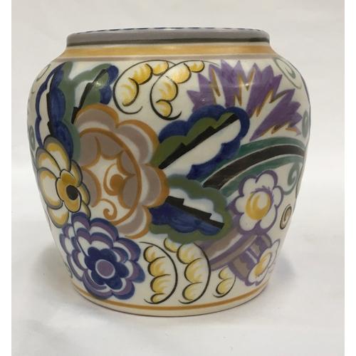 27 - Poole Pottery Carter Stabler Adams shape 486 EW pattern vase by Anne Hatchard....