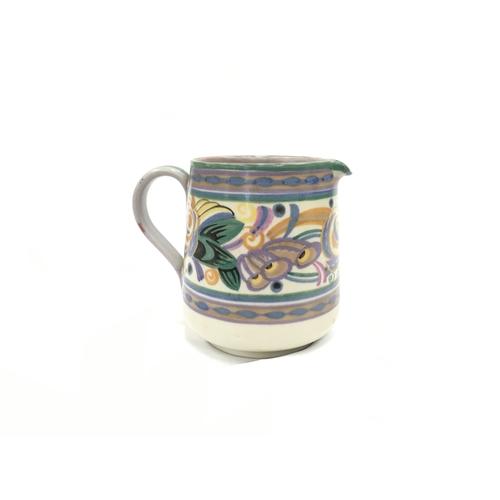 28 - Poole Pottery Carter Stabler Adams shape 319 GX pattern jug by Dorothy James....