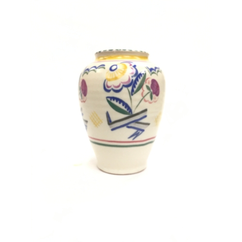 98 - Poole Pottery Carter Stabler Adams shape 336 JT pattern Art Deco vase by Mary Brown....