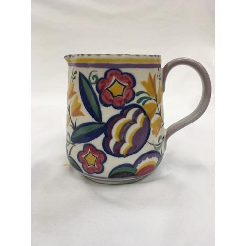 23 - Poole Pottery shape 319 YW pattern Art Deco jug by Vera Bridle....