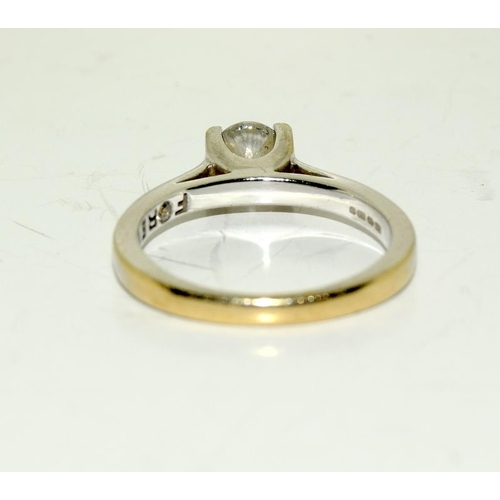 2215 - An 18ct gold diamond solitaire ring approx 0.40 carats....