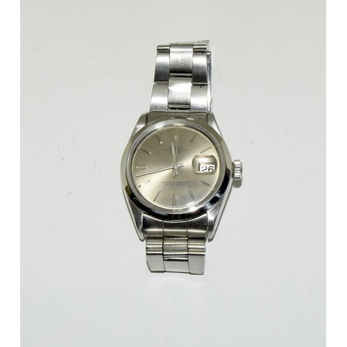2219 - A Rolex Oyster date 1970's stainless steel automatic gents wristwatch, model no.1500, boxed....