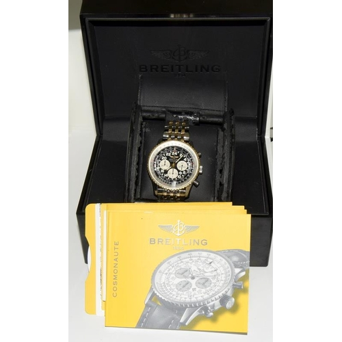 2310 - Breitling Gents Cronograph 2007 Automatic Bi Metal Navitimer Model D22322, Serial 2281492 Working Or...