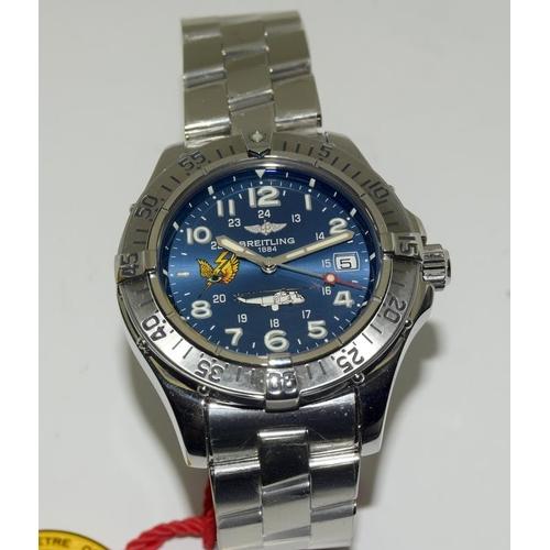 """2335 - Breitling Superocean Acier Sea King 2006 Limited Edition, No. 17/50 """" Unworn"""" Automatic Wristwatch, ..."""