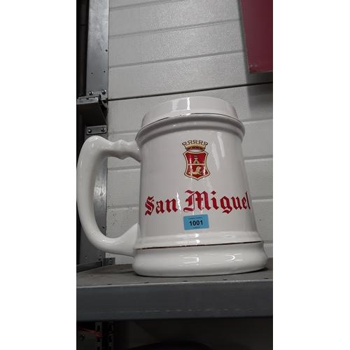 1001 - A San Miguel large ceramic jug....