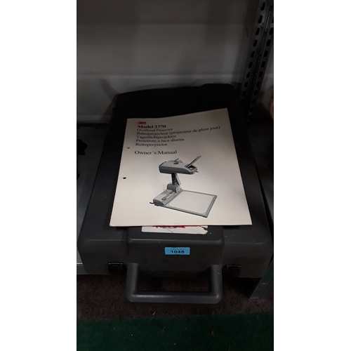 1048 - A 3M model 2770 overhead projector....
