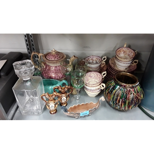 1049 - A collection of Wade porcelain, mixed China and glassware....