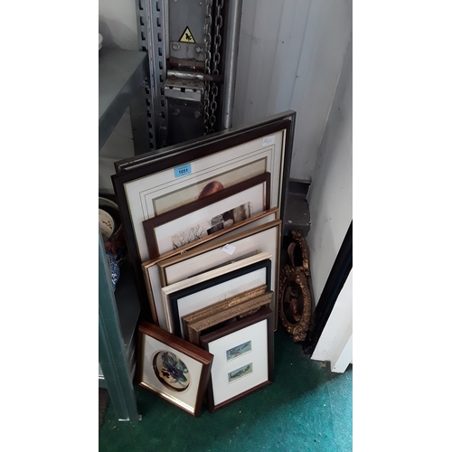 1057 - A mixed collection of framed and glazed pictures and prints....