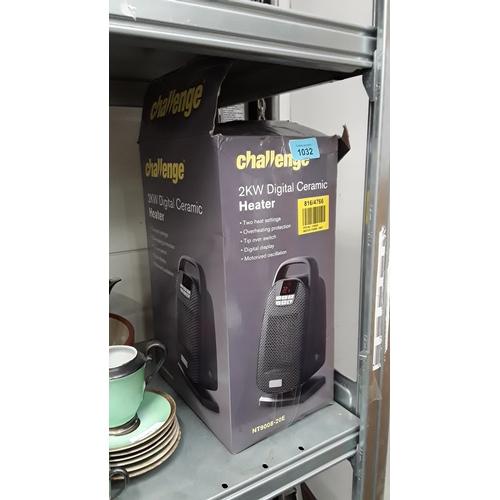 1032 - A Challenge 2KW digital ceramic heater in box....