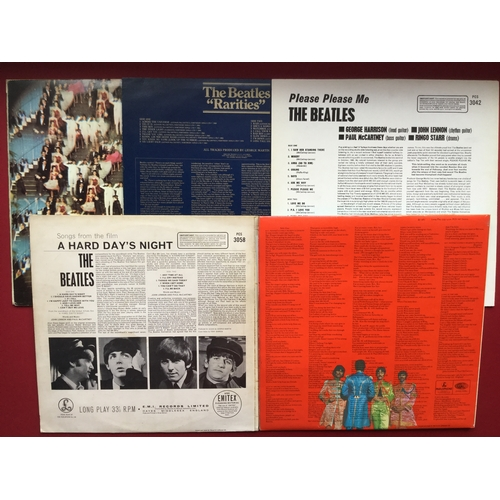 11 - BEATLES VINYL LP RECORDS X 5. Selection here of re-issues to include - Sgt Peppers Lonely Hearts Clu...
