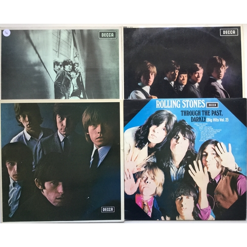 3 - ROLLING STONES SELECTION OF 8 VINYL LP RECORDS. This set consists of originals and reissues. The fol...