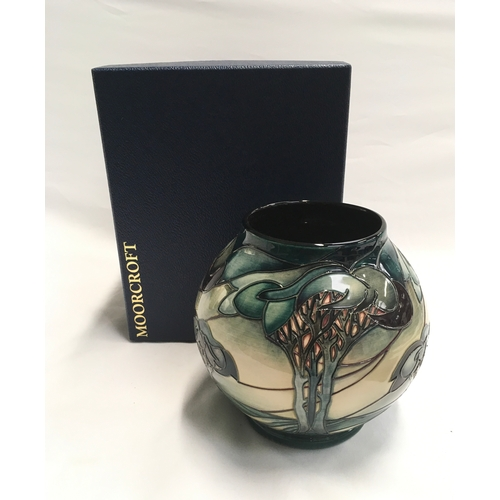 31 - Moorcroft Vale De Luna vase. Limited Edition 225/400. Signed to base. 2002, boxed....
