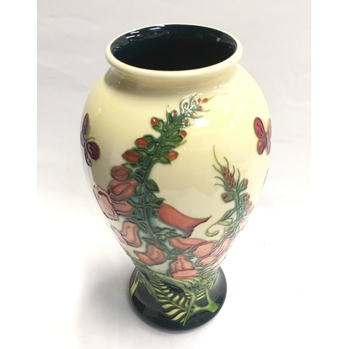 "35 - Moorcroft Foxglove vase by Amanda Baker, November 2006. Signed to base. Boxed. 10"" high...."