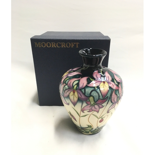 37 - Moorcroft Queens Meadow Limited Edition vase - 28/200 by Rachel Bishop, 2007. Boxed....