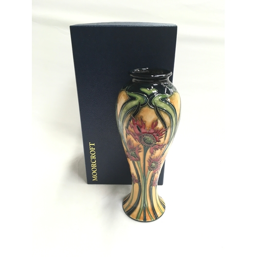 """45 - Moorcroft Limited Edition Ragged Poppy vase - 48/350. Signed by Artist C.2000. 10.5"""" high...."""
