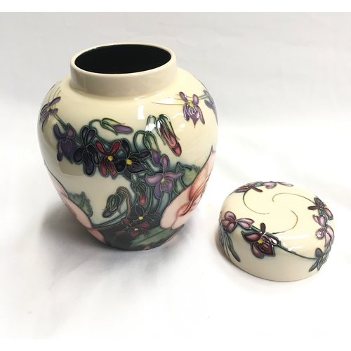 47 - Moorcroft Twelfth Night Limited Edition ginger jar and cover, made exclusively for B & W Thornton, S...