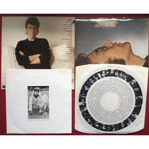 16 - BEATLES / JOHN LENNON LP VINYL RECORDS X 3. Threesome here with 2 John Lennon albums to include 'Ima...