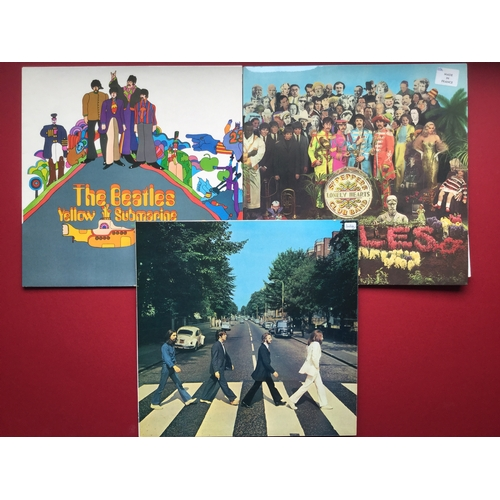 17 - 3 FRENCH PRESSED BEATLES ALBUM VINYL RECORDS. All in Excellent conditions we have 'Sgt Pepper' with ...