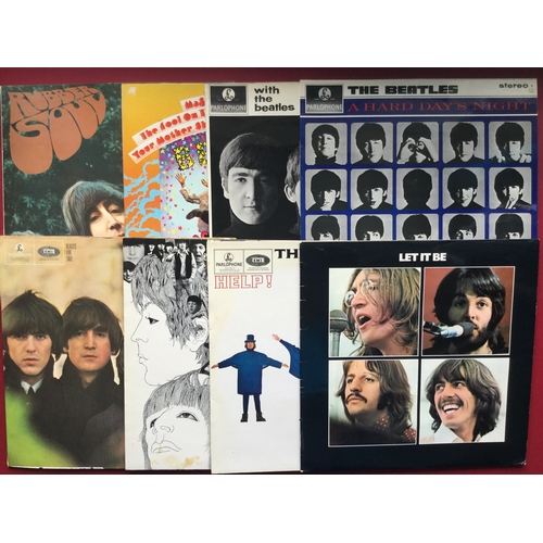 4 - BEATLES STEREO RE-ISSUED LP VINYL RECORDS X 8. This lovely set are in Excellent conditions and consi...