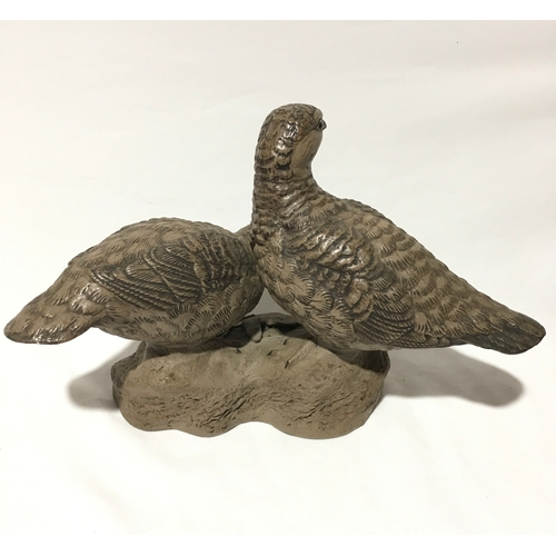 103 - Poole Pottery Barbara Linley Adams pair of Grouse limited edition 83/1000, signed to base....