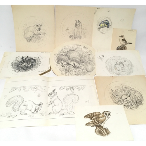 109 - Poole Pottery interest a selection of sketches and artwork by Barbara Linley Adams....