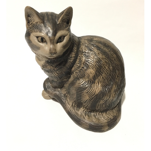 102 - Poole Pottery Barbara Linley Adams Tabby Cat, signed to base....