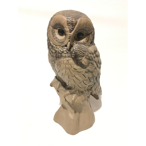 101 - Poole Pottery Barbara Linley Adams large barred owl, signed to base....
