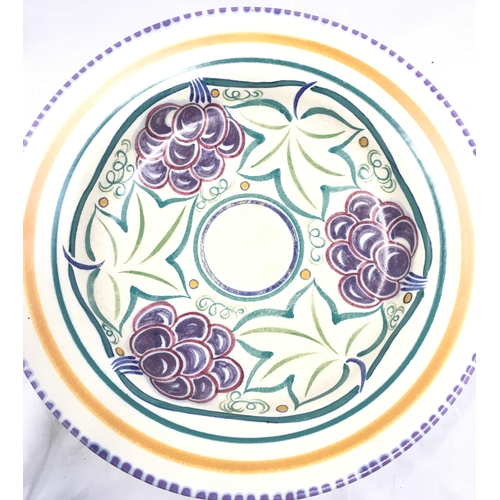 15 - Poole Pottery Carter Stabler Adams shape 418 TR Pattern (grapes) together with a later large bowl (1...