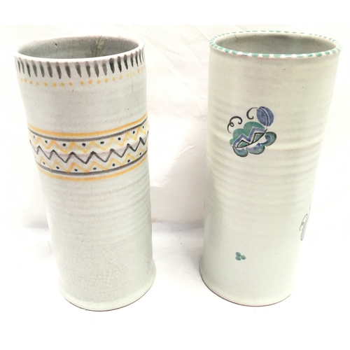 50 - Poole Pottery Carter Stabler Adams shape 207 KW pattern vase together with one other VW pattern, a s...
