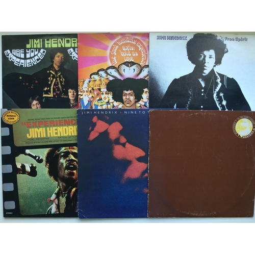 13 - JIMI HENDRIX VINYL ALBUM RECORDS. 6 in total to include - 'Are You Experienced' on Track 2407 010 - ...