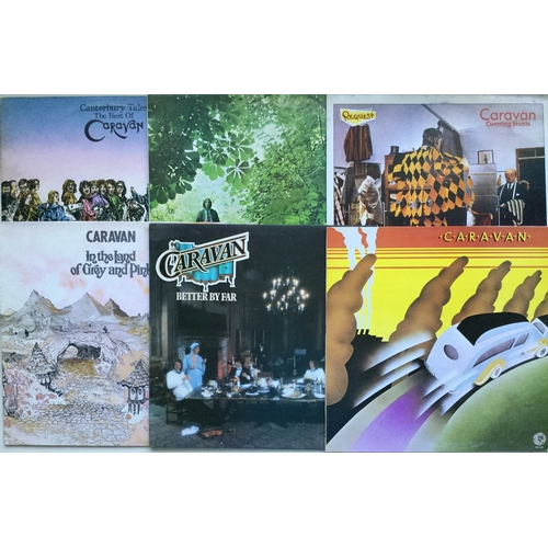 10 - CARAVAN LP VINYL RECORDS X 6. Superb lot in Ex conditions including - 'Canterbury Tales' on Deram DK...
