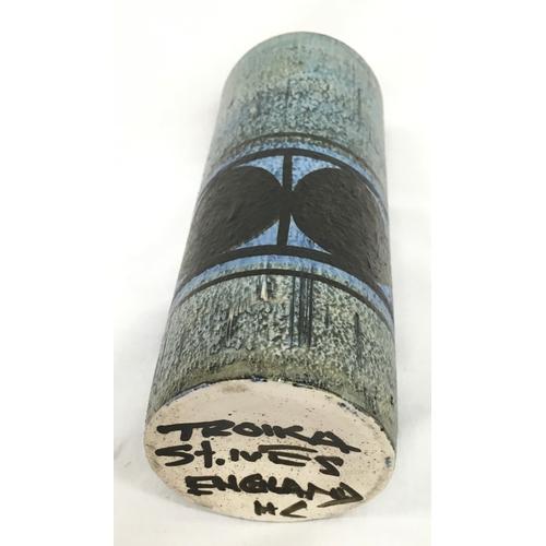 9 - Troika cylinder vase 'Honor Curtis' 1966-74....