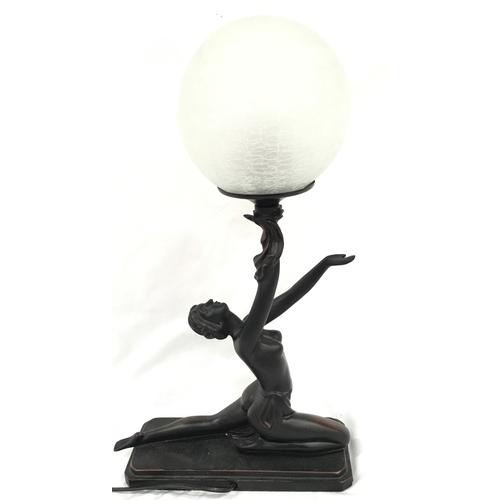 5 - An Art Deco style lamp....
