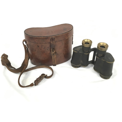 215 - WWII Stereo Prism Binoculars by Ross, London. No.71931....