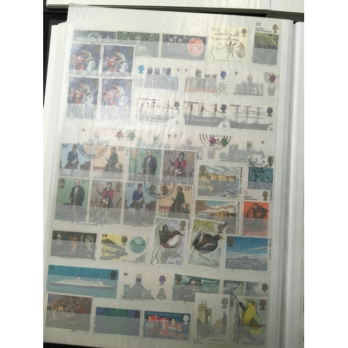 204 - Four albums of GB and other stamps. Some Mint unfranked....