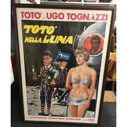 554 - An Italian cinema poster - Toto Nella Luna....