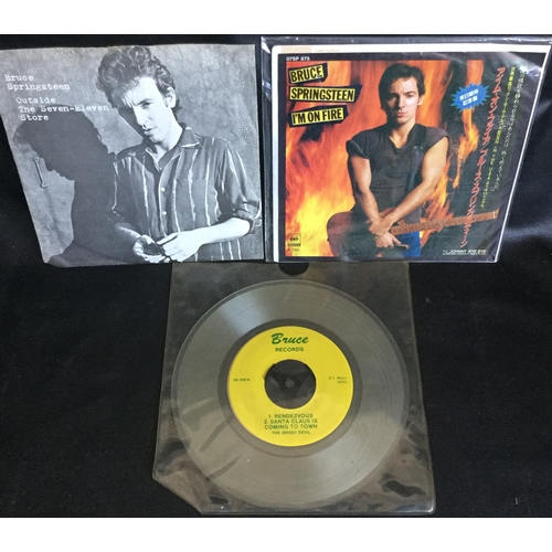 "58 - BRUCE SPRINGSTEEN 7"" RARITIES X 3. The first record is a excellent copy of this extremely rare offic..."