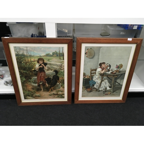 """584 - Hillyard Swinstead: """"Her First Love"""" and """"The Favourite"""", signed...."""
