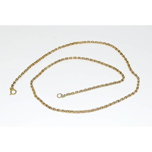 2082 - A 9ct gold necklace....
