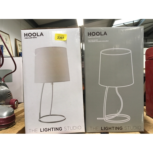 """2307 - Two """"Hoola"""" table lamps, boxed as new...."""