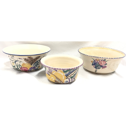1016 - Poole Pottery Carter Stabler Adams shape 470 ZX pattern bowl, together with a shape 383 ZD pattern b...