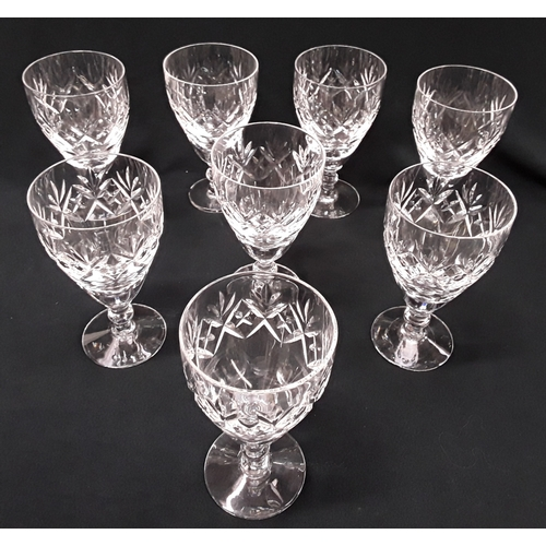 1038 - A quantity of crystal glasses on an oblong silver plated tray, engraved in relation to Greyhound Rac...