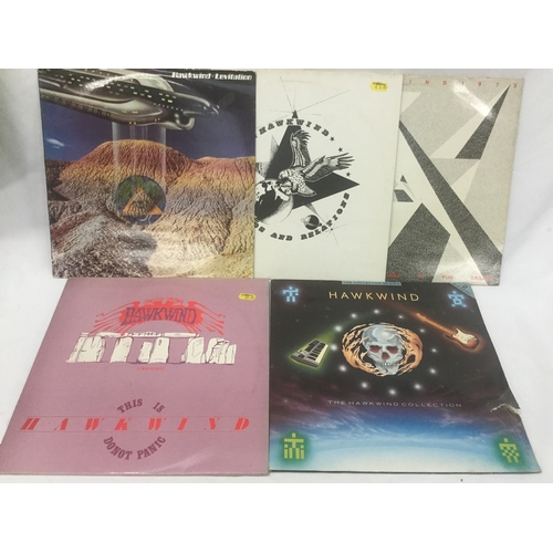 6 - HAWKWIND VINYL ALBUMS X 5. Starting of with - This Is Hawkwind Stonehenge Do Not Panic (No Poster) -...