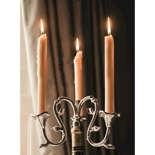 2009 - NEW boxed centrepiece bottle candleholder, silver effect, ideal Christmas or Wedding gift (RRP appro...
