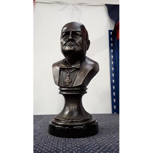 2006 - A bronze bust of Winston Churchill (163)....