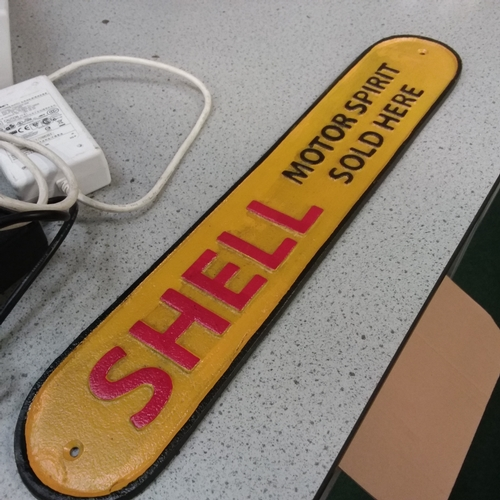 2010 - A large metal Shell sign (224)....