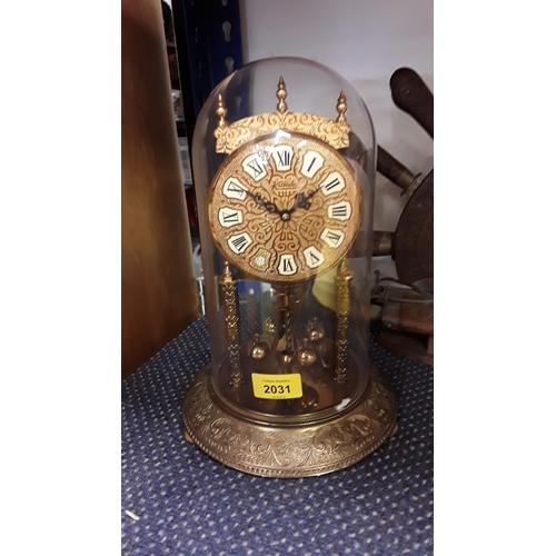 2013 - A modern anniversary clock in acrylic dome....