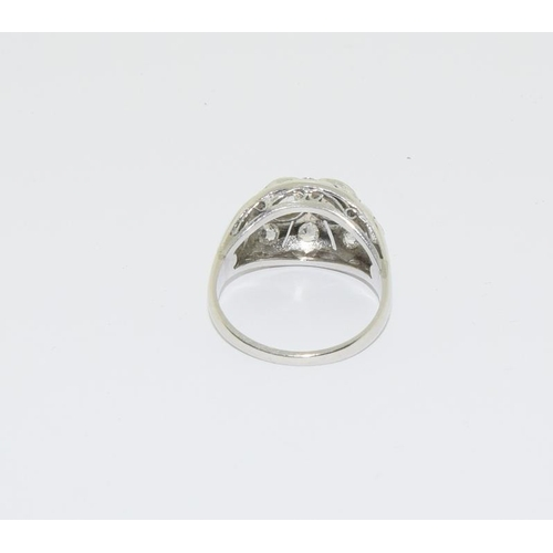 33 - 18ct white gold diamond ring, approx 1ct, size M....